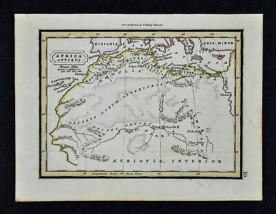 1832 Murphy Map - Ancient North Africa Sahara Mauritania Carthage Cyrene Numidia