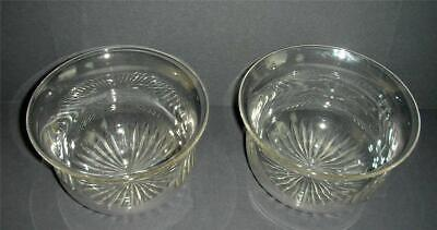 2 old glass finger bowls ( rinsers ) -- glass tableware -- Edwardian ?? .