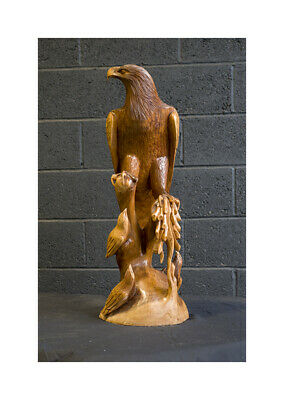 Hand Carved Wooden Large Eagle Statue Sculpture