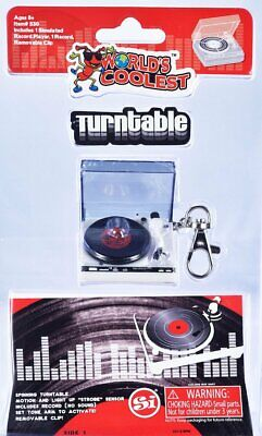 TURNTABLE DOLL HOUSE World's Smallest Coolest Mini Record Player Toy Barbie Gift