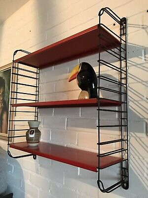 TOMADO dutch Vintage Industrial Retro Shelving Unit wall shelves mid century red
