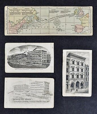 1882 Prints & Map of Macullar Parker & Company Boston Store Factory Architecture