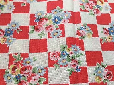 CATH KIDSTON WOODLAND ROSE LITTLE LEAVES SCRAP FABRIC NEW 152 cm x 20 cm