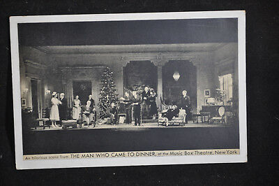 The Man Who Came to DInner at the Music Box Theatre NYC Postcard