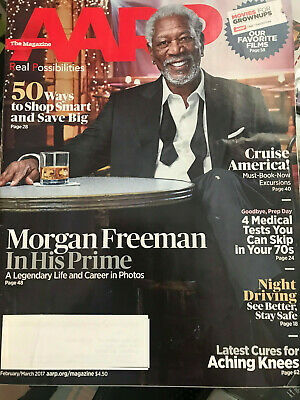 AARP MAGAZINE ~ February - March 2018 - MORGAN FREEMAN In his Prime