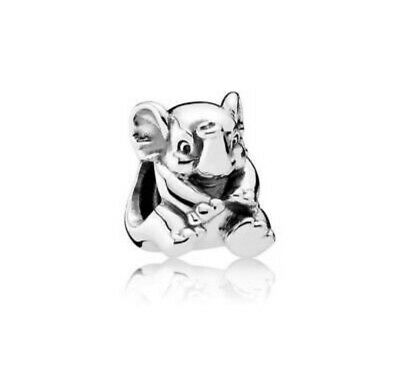 Authentic Pandora Women's Lucky Elephant Charm, Silver bead