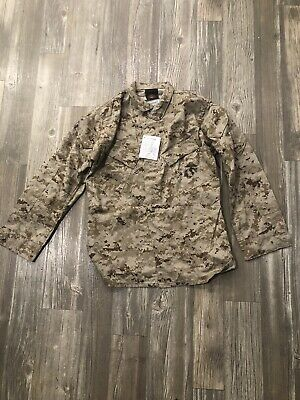 NEW! US Military MARPAT USMC digital desert Camo Cammies Shirt / Blouse Large