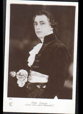 "ARTISTE CINEMA / ABEL GANCE , Role de SAINT-JUST dans FILM ""NAPOLEON"""