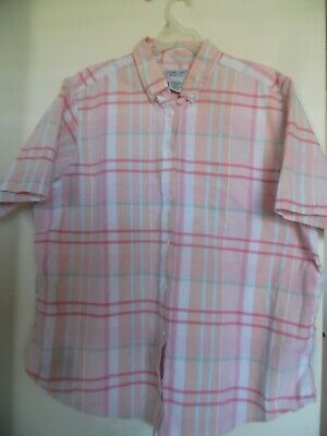 39553712d CABIN CREEK BLUE~YELLOW Plaid Wrinkle Free Stain Repellent Top ...