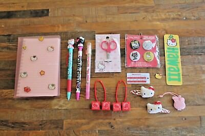 Lot of 17 Vintage Hello Kitty Three Apples Collectable Stationary & Accessories