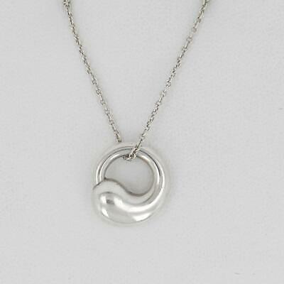 Guaranteed TIFFANY & CO Sterling Silver Circle of Life Necklace by Elsa Peretti