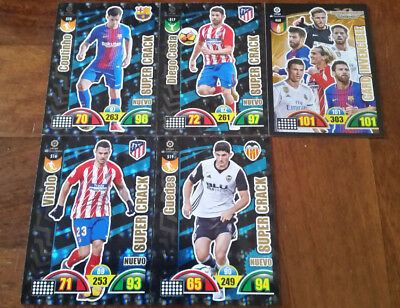 Set 4 Nuev0 Super Crack 2017 2018 Liga Santander Adrenalyn Xl Supercrack New