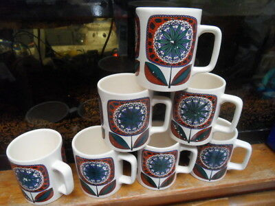 7 ancien mug tasse ceramique west germany deco vintage kitsch 70's loft