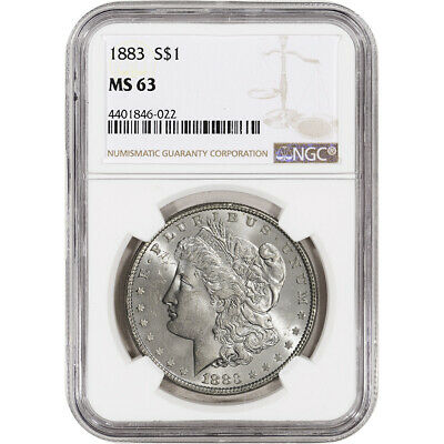 1883 US Morgan Silver Dollar $1 - NGC MS63