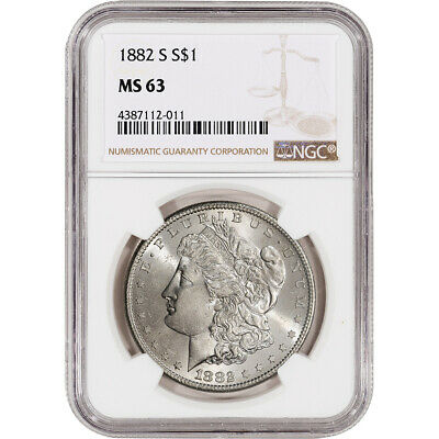 1882-S US Morgan Silver Dollar $1 - NGC MS63