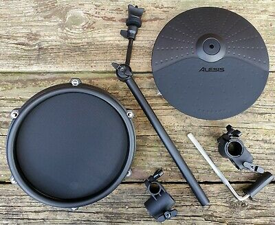 "NEW Alesis Nitro Mesh Upgrade 10"" Cymbal, 8"" Pad w/ Mounting H/W for 1 1/8"" Rack"