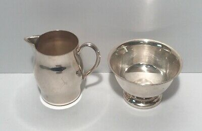 Vintage 1883 FB Rogers Co Silver On Copper Silver Plated Cup & Creamer