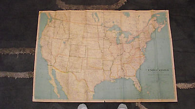 1933 North America USA Canada Mexico National Geographic Map 26 3/4 x 40