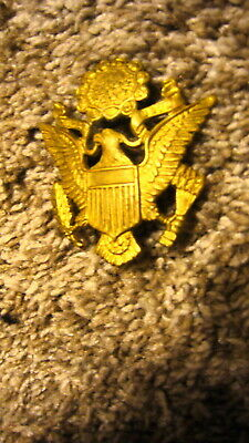 U.s.wwii Daily Officer Brass Hat Insignia Ex Cond