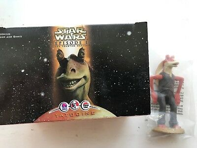 Boxed Sealed Star Wars Episode 1 Joking Jar Jar Binks Kfc Figure Collectible