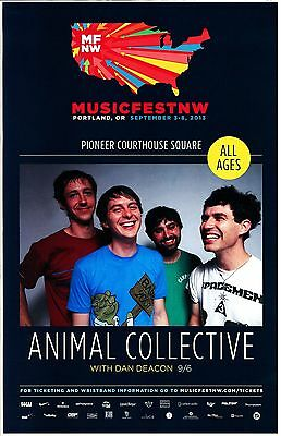ANIMAL COLLECTIVE 2013 Gig POSTER MFNW Portland Oregon Concert Musicfest NW