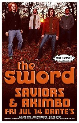 THE SWORD 2006 Gig POSTER Age Of Winters Portland Oregon Concert