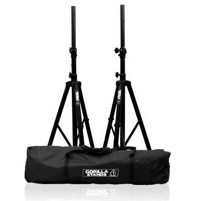 Gorilla Tripod PA Speaker Stands With Carry Bag & Lifetime Warranty