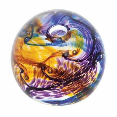 Caithness Glass Unlimited Joy Purple Paperweight