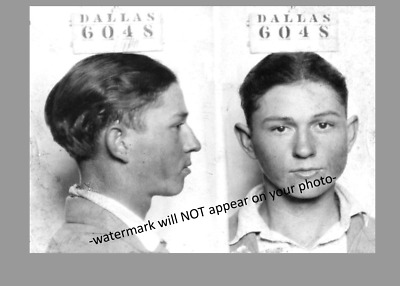 Clyde Barrow Mug Shot PHOTO,Great Depression Gangster Bank Robber BONNIE CLYDE