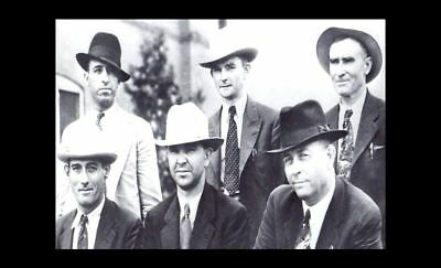 1934 Bonnie & Clyde Gang Killed PHOTO Texas Ranger Frank Hamer Posse Group Photo