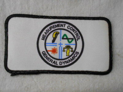 General Dynamics Measurement Control  Used Company Patch Tag