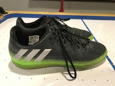 b225d6ab925f ADIDAS MESSI 16.3 IN Junior Indoor Soccer shoes Green Grey KIDS ...