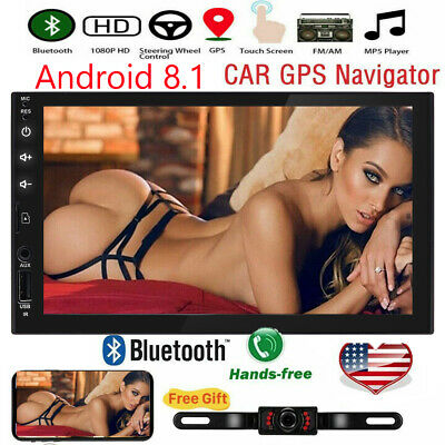 Sony Lens Double 2 Din Car Stereo Android Player GPS HD In Dash Bluetooth Radio