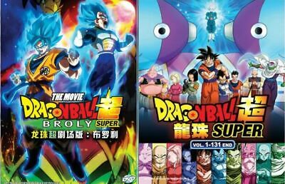 DVD Dragon Ball Super Vol.1-131 End ( English Audio Vol 1-52 ) + Broly Movie