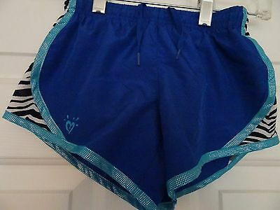 Justice All Sports Girls Shorts Size 6 Royal Blue/Teal-Cross Training-Lkn