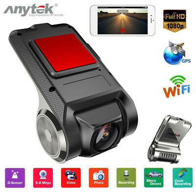 Anytek X28 FHD Car DVR Camera Video Recorder WiFi ADAS GPS Night Vision Dash Cam