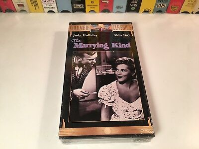 The Marrying Kind Sealed Comedy Drama VHS 1952 Judy Holliday Aldo Ray Classic