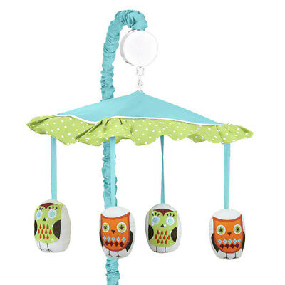 Sweet Jojo Designs Musical Mobile For Turquoise Hooty Owl Baby Crib
