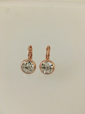 Swarovski elements crystal classic french hook earring in both Rose and silver