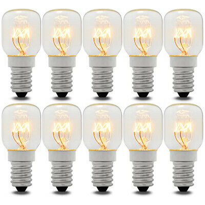10 x Eveready 15W SES/E14 Clear Pygmy 300 Deg Cooker Oven Lamp (Appliance bulb)