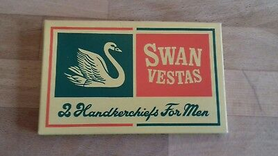 Men's Vintage Swan Vestas Handkerchiefs - Unused in Box