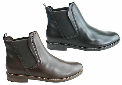 70a68e57671d20 New Gino Ventori Pecan Womens Comfortable Leather Chelsea Ankle Boots