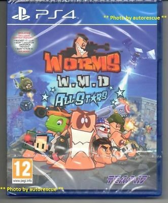 Worms WMD W.M.D. All Stars  HD  'New & Sealed'  *PS4(Four)*