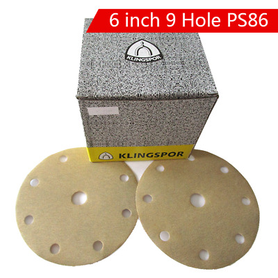 6 Inch(150mm) Dry Sandpaper Hook&Loop Sanding Discs 80# 180# 320# Car Polishing
