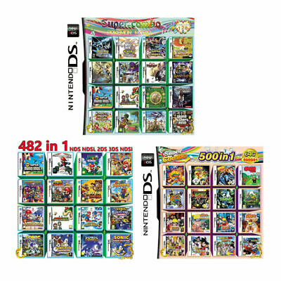 208/482/500 IN 1 Game Cartridge Card For Nintendo DS NDS NDSL NDSi 2DS 3DS
