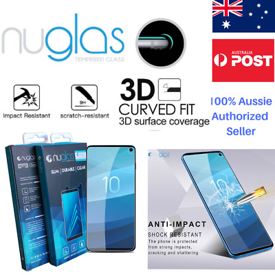 Samsung Galaxy S9 S10 Plus Nuglas Tempered Glass Full Screen Protector