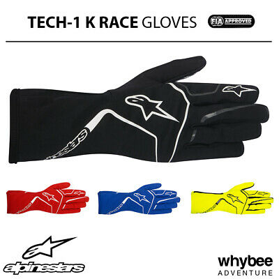 3552017 Alpinestars 2019 TECH-1 K RACE Lightweight Gloves Karting in 7 Colours!