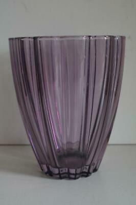 A Lovely Pale Purple Fluted Vase.