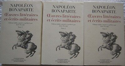 C1 NAPOLEON Oeuvres Litteraires et Ecrits Militaires COMPLET 3 Tomes JEAN TULARD