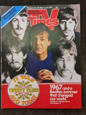 THE BEATLES 5 JUNE 1987 TV TIMES MAGAZINE - SGT. PEPPER 20th ANNIVERSARY EDITION